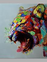 Недорогие -Hang-роспись маслом Ручная роспись - Абстракция Поп-арт Классика Modern Без внутренней части рамки / Рулонный холст