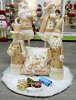 Недорогие -Рождество / Рождественские украшения Новогодняя ёлка Ткань Рождественская елка / Круглый Оригинальные Рождественские украшения