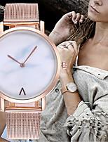 Недорогие -Жен. Дамы Наручные часы Кварцевый Творчество Новый дизайн Повседневные часы Нержавеющая сталь Группа Аналоговый На каждый день минималист Серебристый металл / Золотистый / Розовое золото -