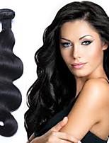 Недорогие -3 Связки Бразильские волосы Естественные кудри 10A 100% Remy Hair Weave Bundles Плетение 24 дюймовый Естественный цвет Ткет человеческих волос Расширения человеческих волос Жен.