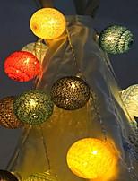 abordables -2m Guirlandes Lumineuses 20 LED Plusieurs Couleurs Décorative Piles AA alimentées 1 set