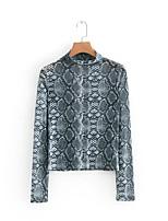 Недорогие -женская тощая футболка - леопард с шеей