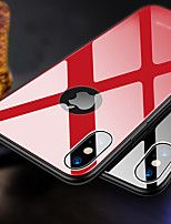 baratos -Capinha Para Apple iPhone XR / iPhone XS Max Ultra-Fina Capa traseira Sólido Rígida TPU / Vidro Temperado para iPhone XS / iPhone XR / iPhone XS Max
