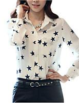 Недорогие -Жен. Рубашка Активный Геометрический принт