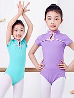 abordables -Danse classique justaucorps Fille Entraînement / Utilisation Elasthanne / Lycra Combinaison Manches Courtes Collant / Combinaison