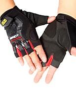 baratos -Meio dedo Todos Motos luvas Tecido / Microfibra Manter Quente / Antiderrapante
