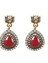 Недорогие -Жен. Классический Набор серьги - Цветы Мода Красный Назначение Для вечеринок Повседневные