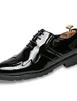 Недорогие -Муж. Комфортная обувь Полиуретан Осень Туфли на шнуровке Золотой / Черный / Для вечеринки / ужина