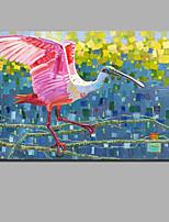 Недорогие -Hang-роспись маслом Ручная роспись - Абстракция / Пейзаж Современный / Modern Включите внутренний каркас / Рулонный холст / Растянутый холст