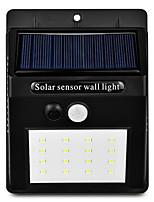 Недорогие -1шт 3 W Свет газонные / Светодиодный уличный фонарь / Солнечный свет стены Работает от солнечной энергии / Инфракрасный датчик / Управление освещением Тёплый белый / Белый 3.7 V