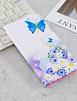 Недорогие -Кейс для Назначение SSamsung Galaxy J6 / J4 Кошелек / Бумажник для карт / со стендом Чехол Бабочка Твердый Кожа PU для J6 (2018) / J6 Plus / J4 (2018)