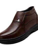Недорогие -Муж. Комфортная обувь Наппа Leather Осень На каждый день Туфли на шнуровке Дышащий Черный / Коричневый