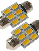Недорогие -SENCART 2pcs 31mm Автомобиль Лампы 3 W SMD 5730 180 lm 6 Светодиодная лампа Внутреннее освещение / Внешние осветительные приборы Назначение