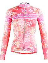 Недорогие -ILPALADINO Жен. Длинный рукав Велокофты - Розовый Мода Велоспорт Верхняя часть Зима, Эластан