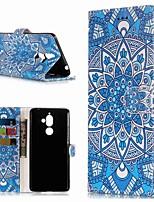 billiga -fodral Till Nokia Nokia 7 Plus / Nokia 6 2018 Plånbok / Korthållare / med stativ Fodral Blomma Hårt PU läder för Nokia 7 Plus / Nokia 6 2018 / Nokia 1