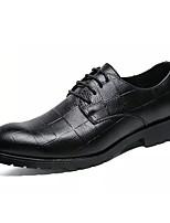 Недорогие -Муж. Комфортная обувь Полиуретан Зима На каждый день Туфли на шнуровке Нескользкий Черный / Серый