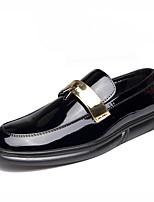 Недорогие -Муж. Официальная обувь Искусственная кожа Осень Английский Мокасины и Свитер Черный / Черный и золотой / Черный / синий / Свадьба / Для вечеринки / ужина