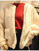 Недорогие -женская хлопчатобумажная куртка - сплошной цвет