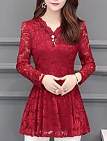Недорогие -женская футболка - сплошной цвет шеи
