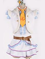 baratos -Inspirado por Amar viver Fantasias Anime Fantasias de Cosplay Ternos de Cosplay Sólido Casaco / Vestido / Cinto Para Homens / Mulheres