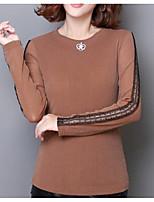 Недорогие -женская футболка - цветной круглый шею