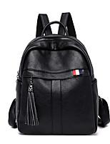 Недорогие -Жен. Мешки PU рюкзак Молнии Сплошной цвет Черный / Красный / Лиловый