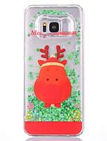 Недорогие -Кейс для Назначение SSamsung Galaxy S8 Plus / S8 Сияние и блеск Кейс на заднюю панель Рождество Твердый пластик для S8 Plus / S8