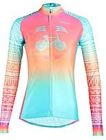 Недорогие -ILPALADINO Жен. Длинный рукав Велокофты - Пурпурный Мода Велоспорт Верхняя часть Зима, Эластан
