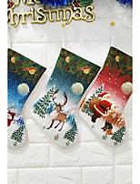 Недорогие -Чулки / Подарочные мешки / Рождество Новогодняя тематика Ткань куб Оригинальные Рождественские украшения