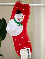 Недорогие -1 пара Универсальные Носки Standard Рождество Избавляет от стресса Простой стиль Хлопок EU36-EU42
