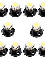 Недорогие -10 шт. T3 Автомобиль Лампы 0.2 W SMD 5050 20 lm 1 Светодиодная лампа Внутреннее освещение Назначение Универсальный Универсальный