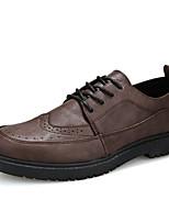 Недорогие -Муж. Комфортная обувь Полиуретан Осень На каждый день Туфли на шнуровке Доказательство износа Черный / Коричневый