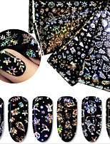 baratos -4 pcs Adesivo de folha Ternos de Papai Noel / Árvore de Natal arte de unha Manicure e pedicure Design fino Original Festival