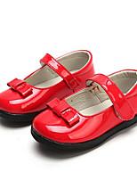 Недорогие -Девочки Обувь Полиуретан Весна / Осень Удобная обувь На плокой подошве для Дети (1-4 лет) Черный / Красный