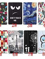 abordables -Coque Pour Huawei MediaPad M5 10 / Huawei Mediapad M5 Lite 10 Avec Support / Clapet / Motif Coque Intégrale Tour Eiffel / Peinture à l'Huile / Chouette Dur faux cuir pour Huawei Mediapad M5 Lite 10
