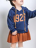 Недорогие -Дети (1-4 лет) Девочки Классический Геометрический принт Длинный рукав Платье Синий 110