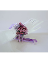 Недорогие -Свадебные цветы Букетик на запястье Свадьба / Свадебные прием Шелковый Как атласные / Шелк 0-10 cm