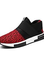 Недорогие -Муж. Комфортная обувь Полотно Осень Мокасины и Свитер Белый / Красный / Синий