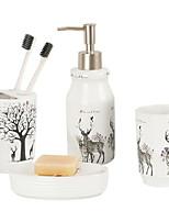 Недорогие -Держатель для зубных щеток / Набор для ванной Креатив Современный Керамика