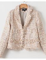 Недорогие -женский выпускной куртка - сплошной цветной шею