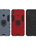 Недорогие -Кейс для Назначение Huawei Huawei Honor 8X Защита от удара / Кольца-держатели Кейс на заднюю панель Однотонный / броня Твердый ПК для Huawei Honor 8X