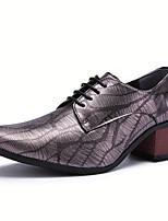Недорогие -Муж. Легкие подошвы Полиуретан Осень На каждый день Туфли на шнуровке Дышащий Серый / Красный / Синий