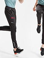 abordables -Homme Pantalons de Cyclisme Vélo Bas Pare-vent, Respirable Couleur Pleine Hiver Noir Tenues de Cyclisme / Micro-élastique