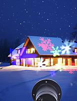 Недорогие -brelong led наружный водонепроницаемый снежинка проекционный светильник европейское регулирование ac100-240v 1 шт.