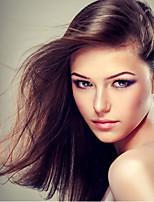 Недорогие -Натуральные волосы Лента спереди Парик Бразильские волосы Естественный прямой Парик 130% Плотность волос Жен. Длинные Парики из натуральных волос на кружевной основе