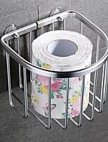 abordables -Porte Papier Toilette Créatif Moderne Aluminium 1pc Montage mural