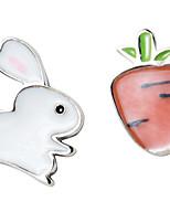 Недорогие -Жен. несовместимый Серьги-гвоздики - Стерлинговое серебро Белый / Розовый Назначение Свадьба