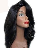 Недорогие -Remy 360 Лобовой Парик Бразильские волосы Естественные кудри Парик Ассиметричная стрижка 130% Плотность волос Для вечеринок Женский Удобный Нейтральный Жен. Короткие