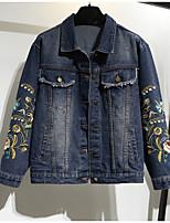 Недорогие -Жен. Джинсовая куртка Активный - Геометрический принт