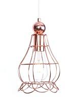 baratos -Lanterna Luzes Pingente Luz Ambiente Galvanizar Metal Criativo, Ajustável 110-120V / 220-240V